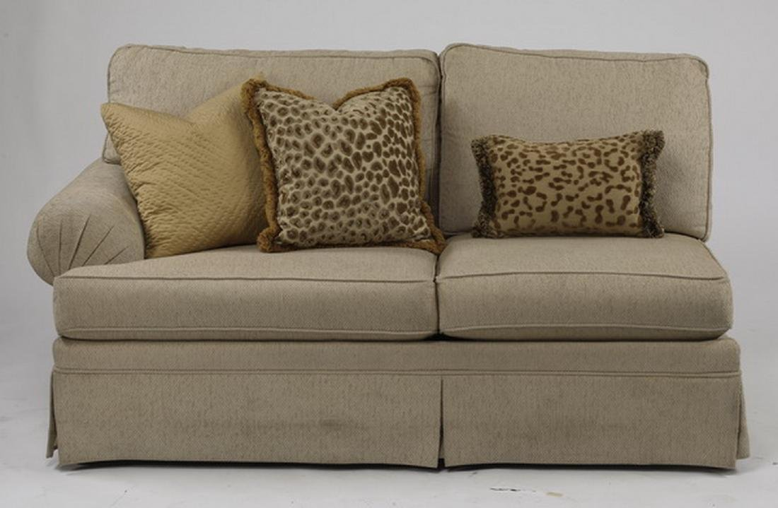 Contemporary cream upholstered sectional sofa - 2