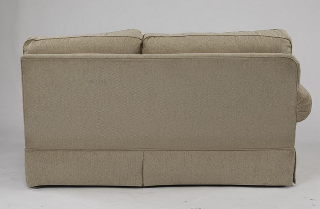 Contemporary cream upholstered sectional sofa - 3