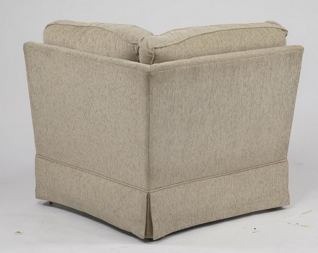 Contemporary cream upholstered sectional sofa - 5