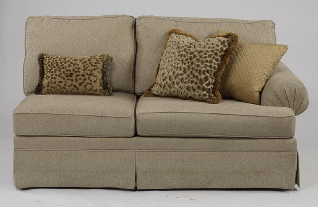 Contemporary cream upholstered sectional sofa - 6