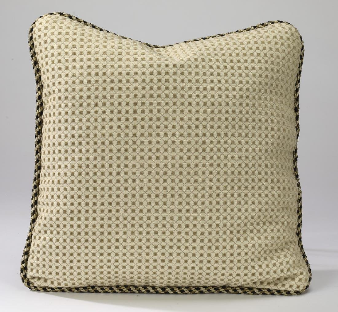 "(2) Accent pillows in textured silk, 17""sq - 2"