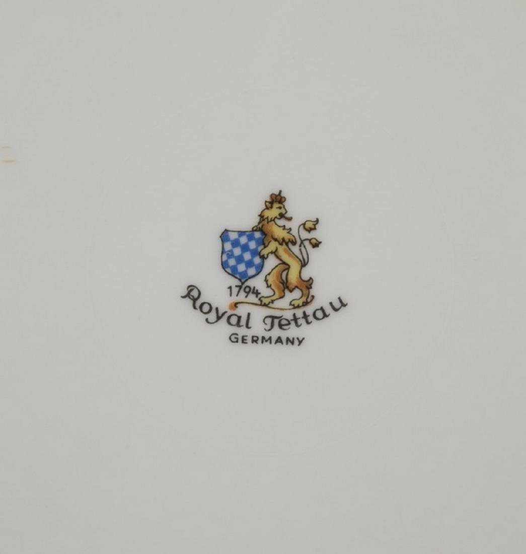 35-pcs. Royal Tettau china in 'Princess Rose & Gold' - 4