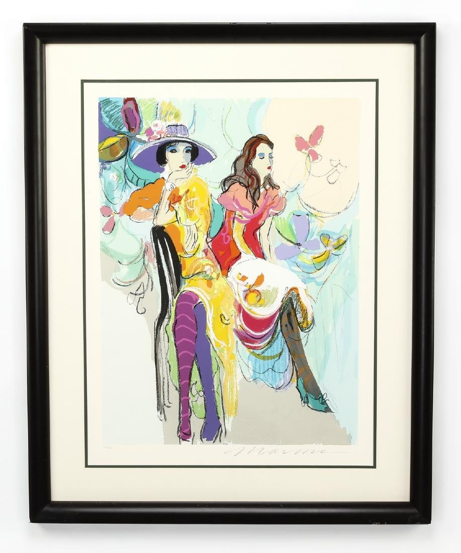 Isaac Maimon signed serigraph 'Les Coquettes II'