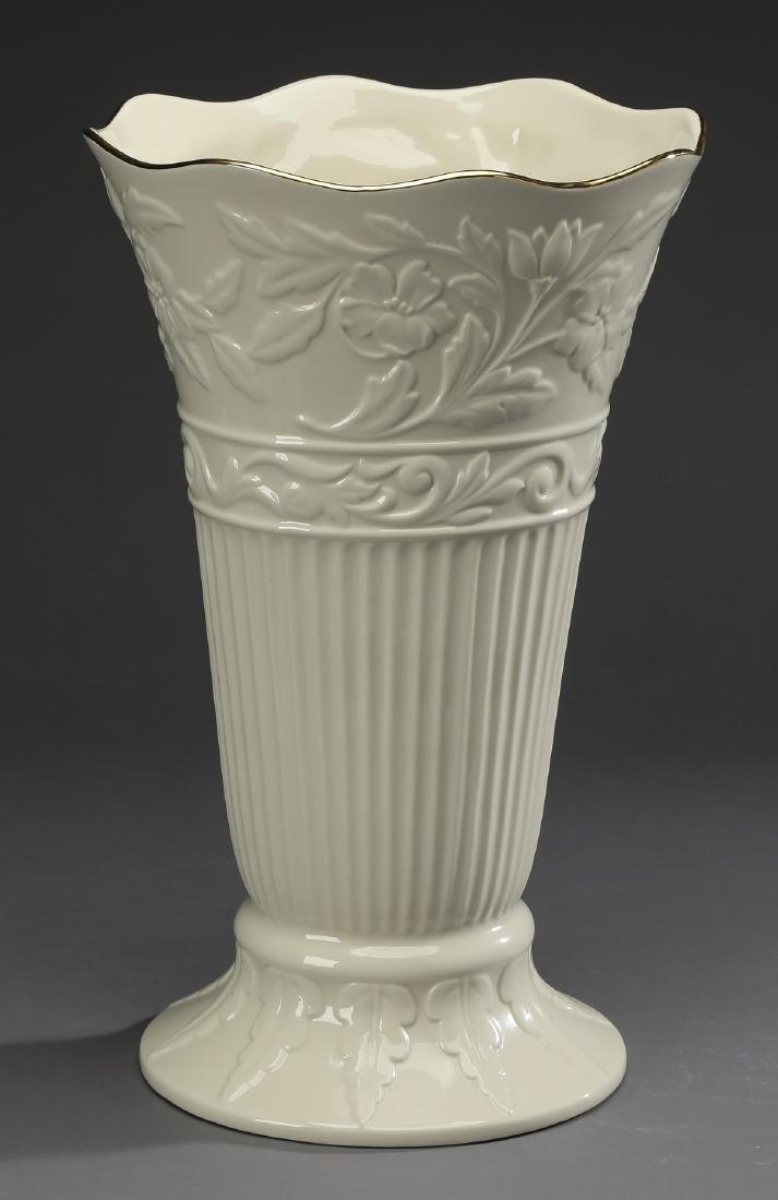 "Lenox porcelain vase in the 'Princeton' pattern 16""h"