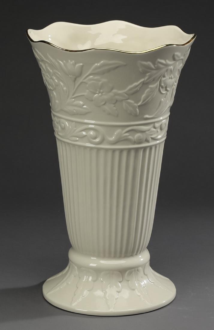 "Lenox porcelain vase in the 'Princeton' pattern 16""h - 2"