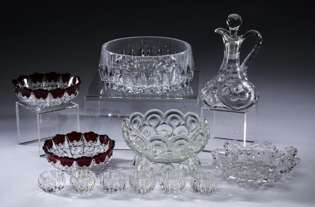 12-Pcs crystal & cut glass table accessories