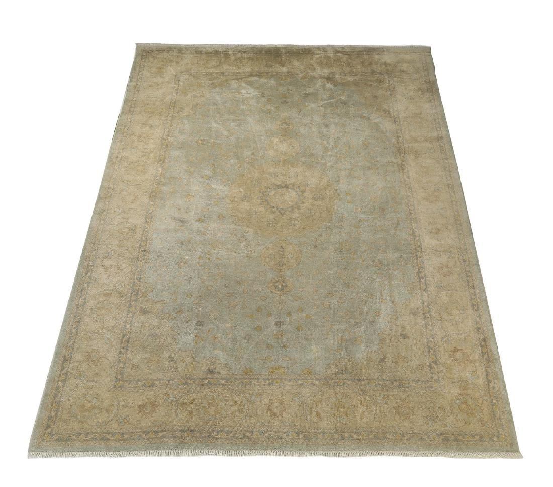 Hand knotted wool Sino-Oushak carpet, 14' x 10