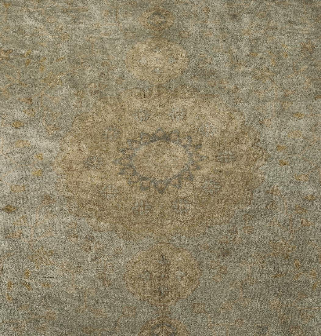 Hand knotted wool Sino-Oushak carpet, 14' x 10 - 2