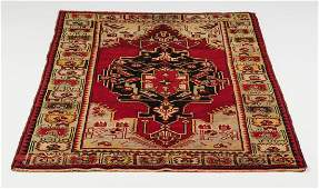 Hand knotted wool Turkish rug, 3 x 5