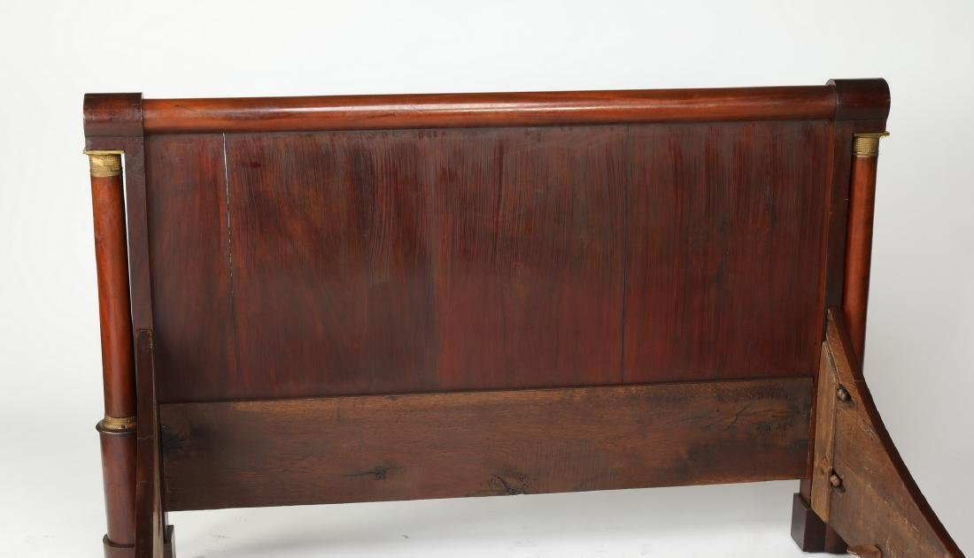 Early 20th c. French walnut bed w/ bronze mounts - 3