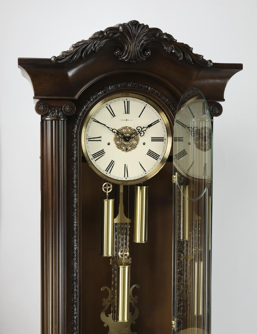 "Howard Miller mahogany grandfather clock, 88""h - 2"