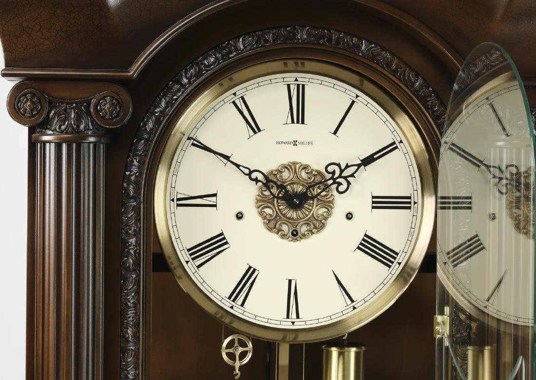 "Howard Miller mahogany grandfather clock, 88""h - 3"