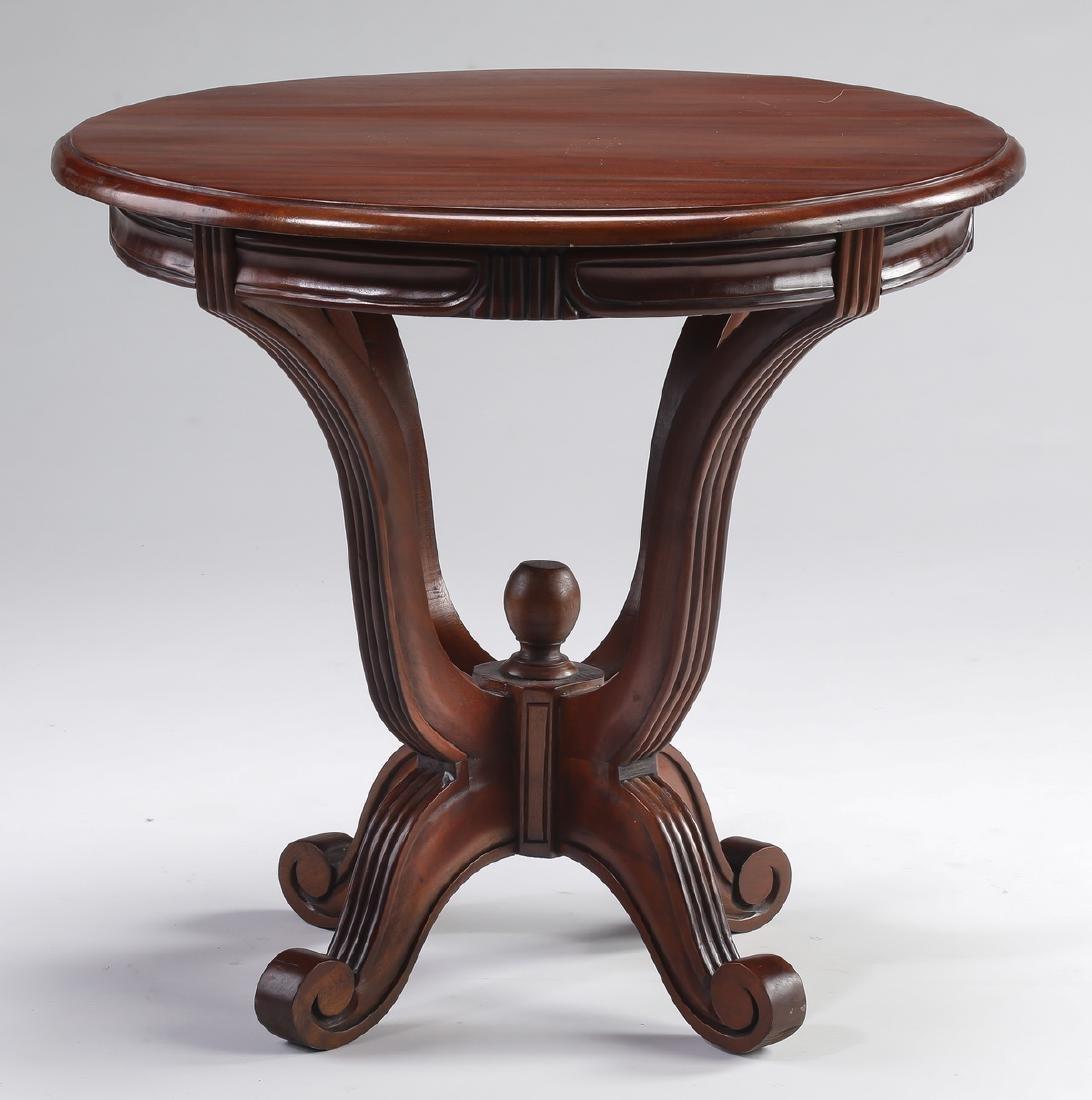 """Regency style mahogany side table, 21""""h"""