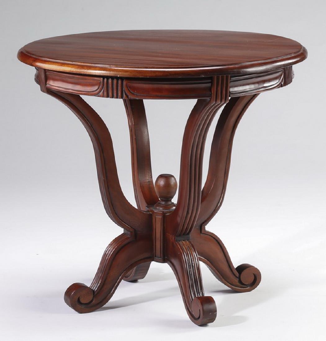 """Regency style mahogany side table, 21""""h - 2"""