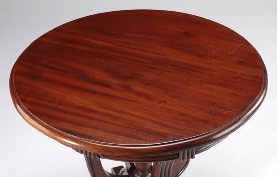 """Regency style mahogany side table, 21""""h - 3"""