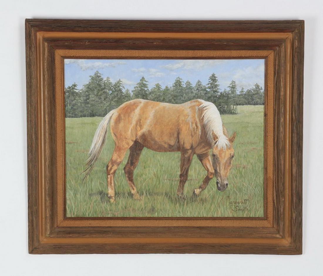 "Margaret Smith, O/c horse portrait, 23""h"