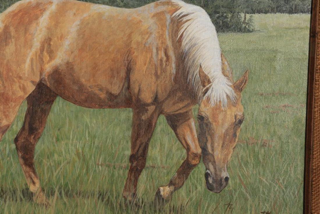 "Margaret Smith, O/c horse portrait, 23""h - 2"