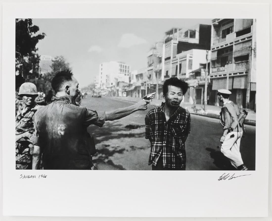 Eddie Adams signed silver print 'Saigon Execution'