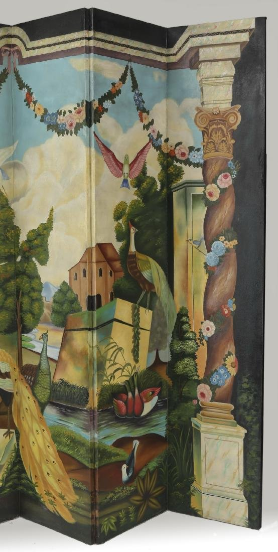 Maitland-Smith hand painted screen or room divider - 4