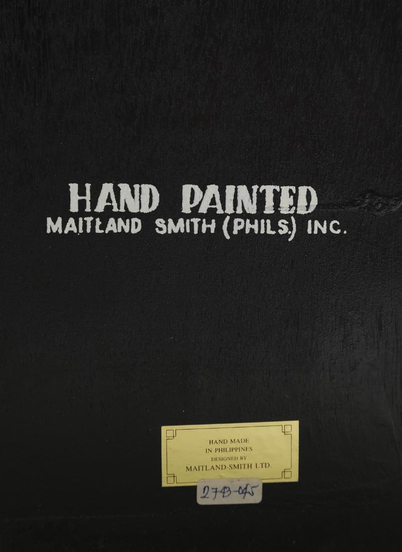 Maitland-Smith hand painted screen or room divider - 6