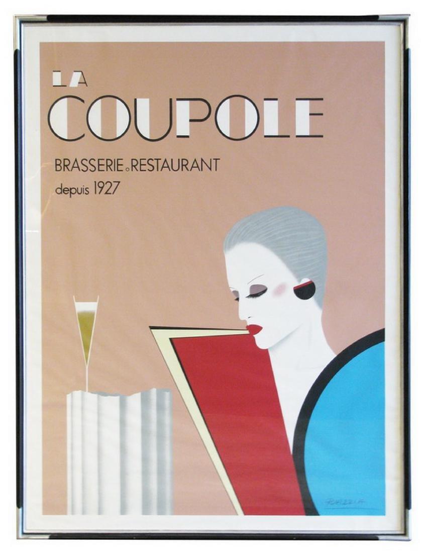 """Art Deco style framed advertising poster, 66"""""""