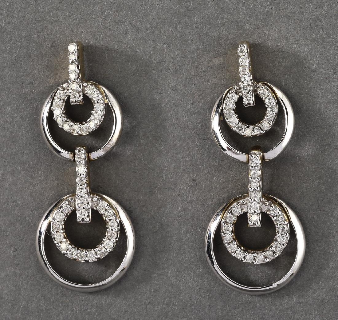 Diamond & 14k door knocker ear pendants
