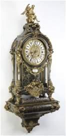 18th c ormolu & boulle bracket clock, marked Boulle