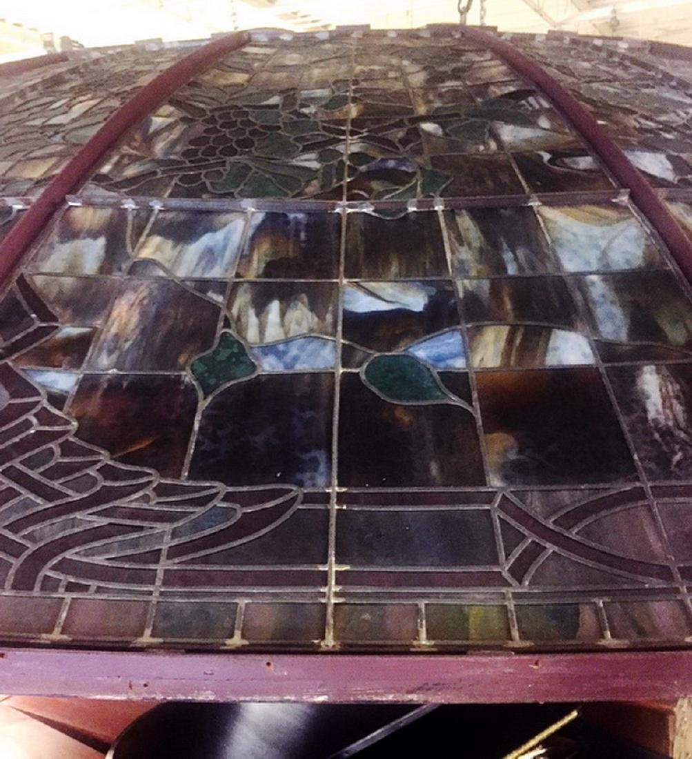 Monumental American stained glass dome, 17 ft dia. - 10