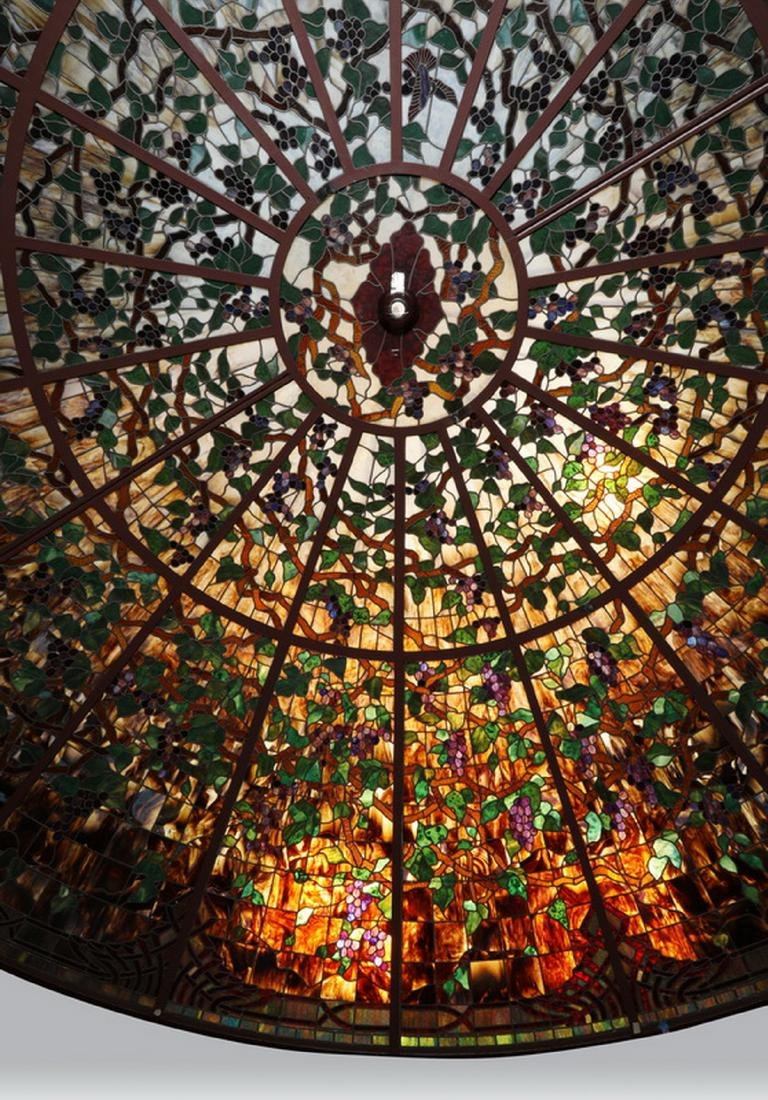 Monumental American stained glass dome, 17 ft dia. - 3