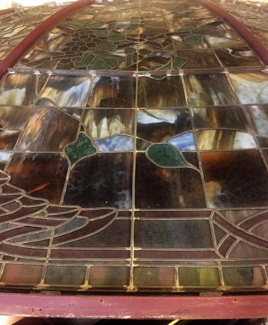 Monumental American stained glass dome, 17 ft dia. - 9