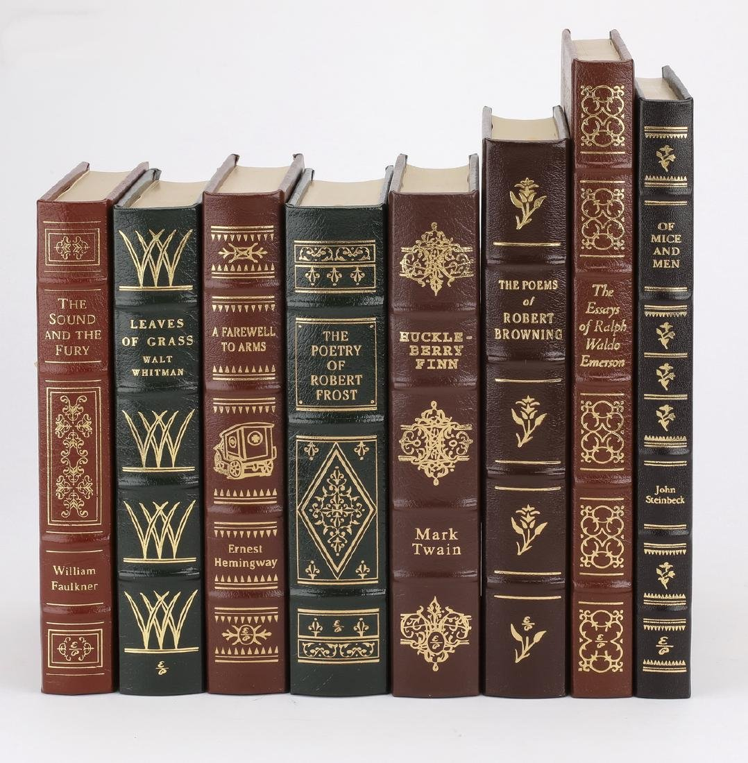 (8) Leatherbound books from '100 Greatest' series