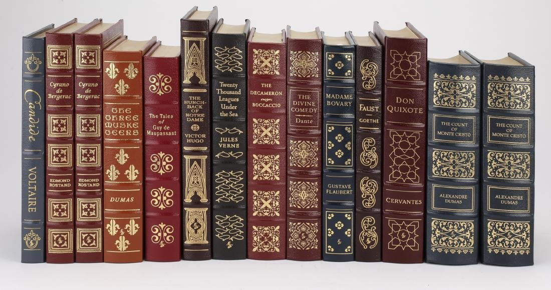 (14) Leatherbound books from '100 Greatest' series