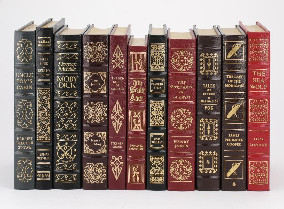 (11) Leatherbound books from '100 Greatest' series