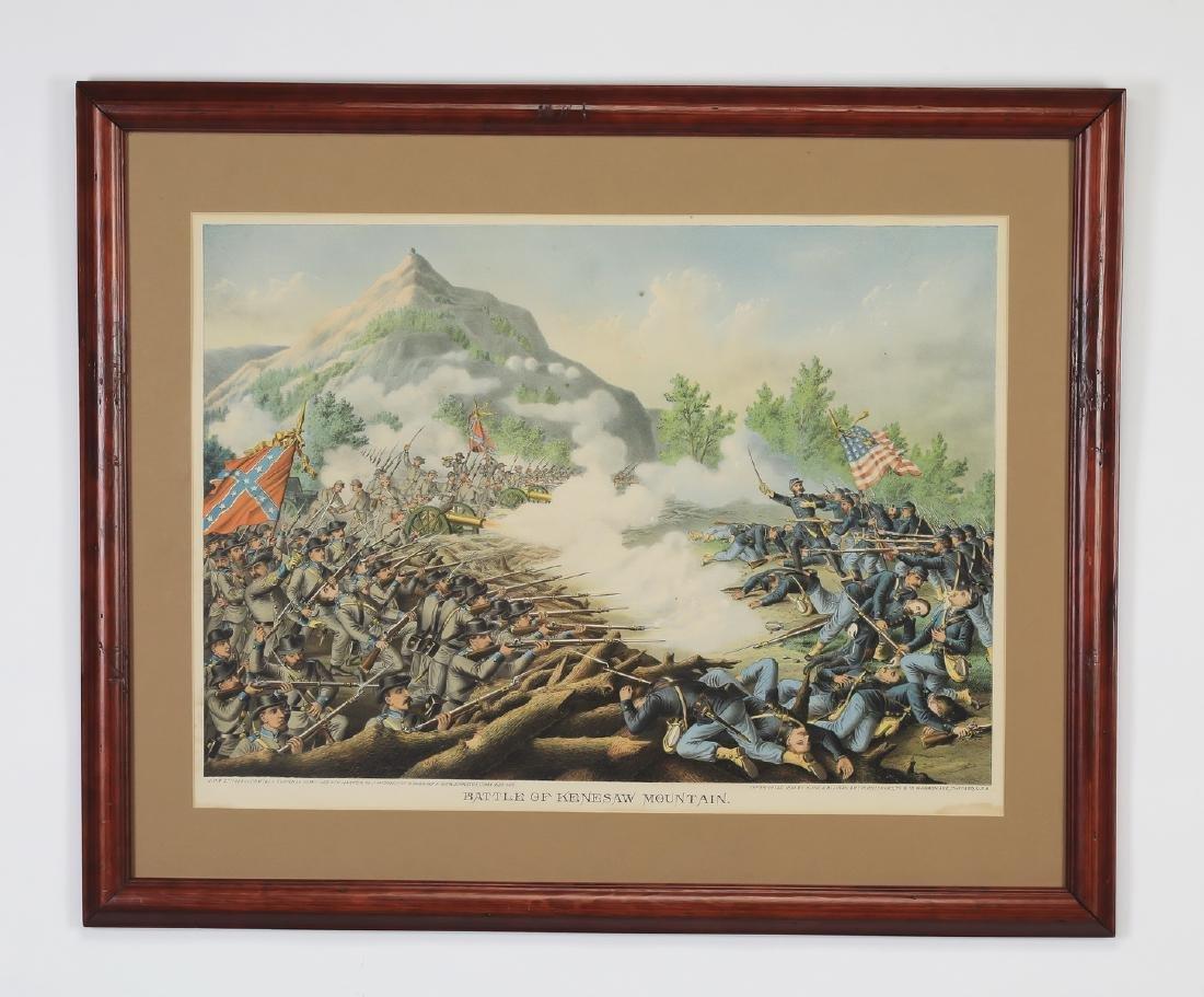 Kurz & Allison 'Battle of Kennesaw Mountain' litho
