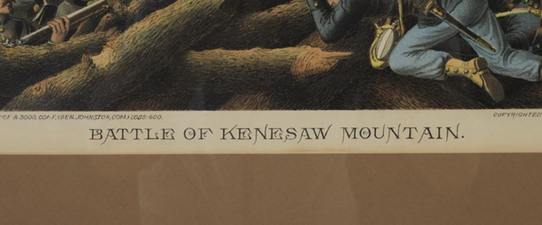 Kurz & Allison 'Battle of Kennesaw Mountain' litho - 2