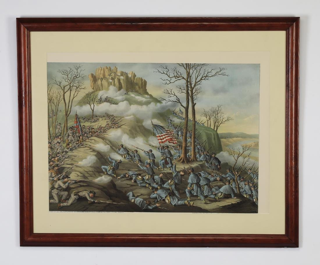 Kurz & Allison 'Battle of Lookout Mountain' litho