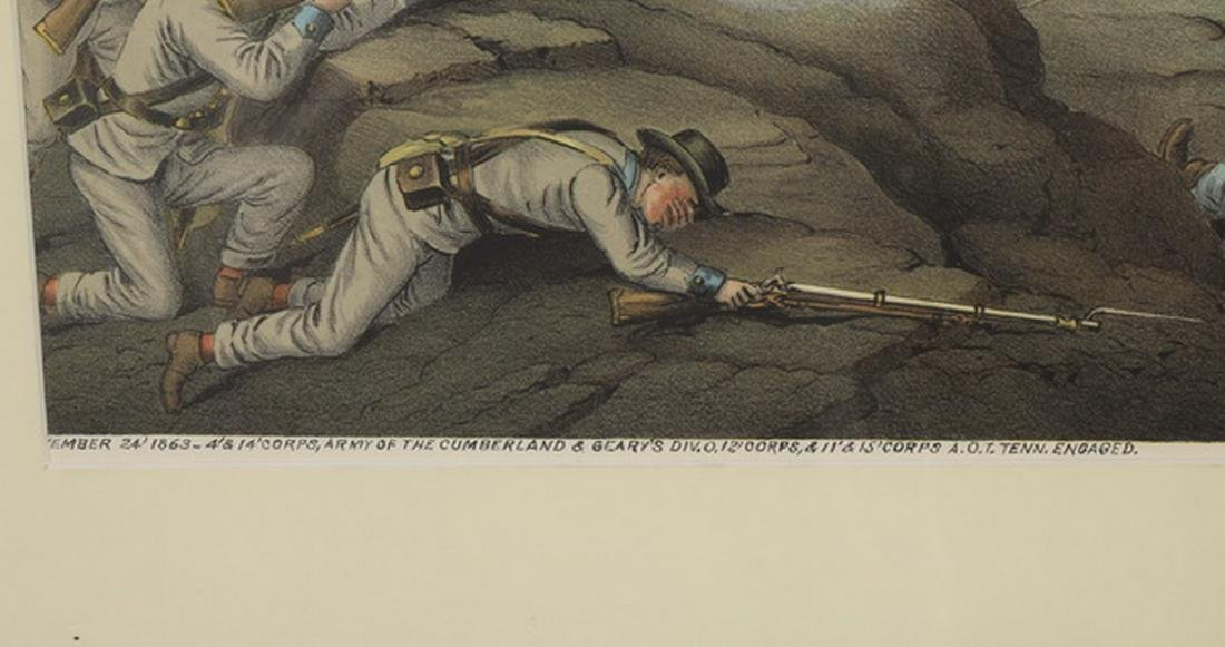 Kurz & Allison 'Battle of Lookout Mountain' litho - 2