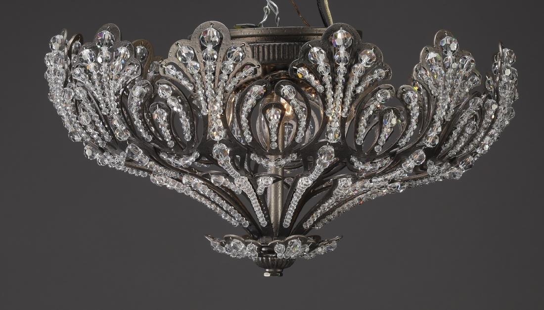 Schonbek Rivendell crystal beaded dome ceiling light