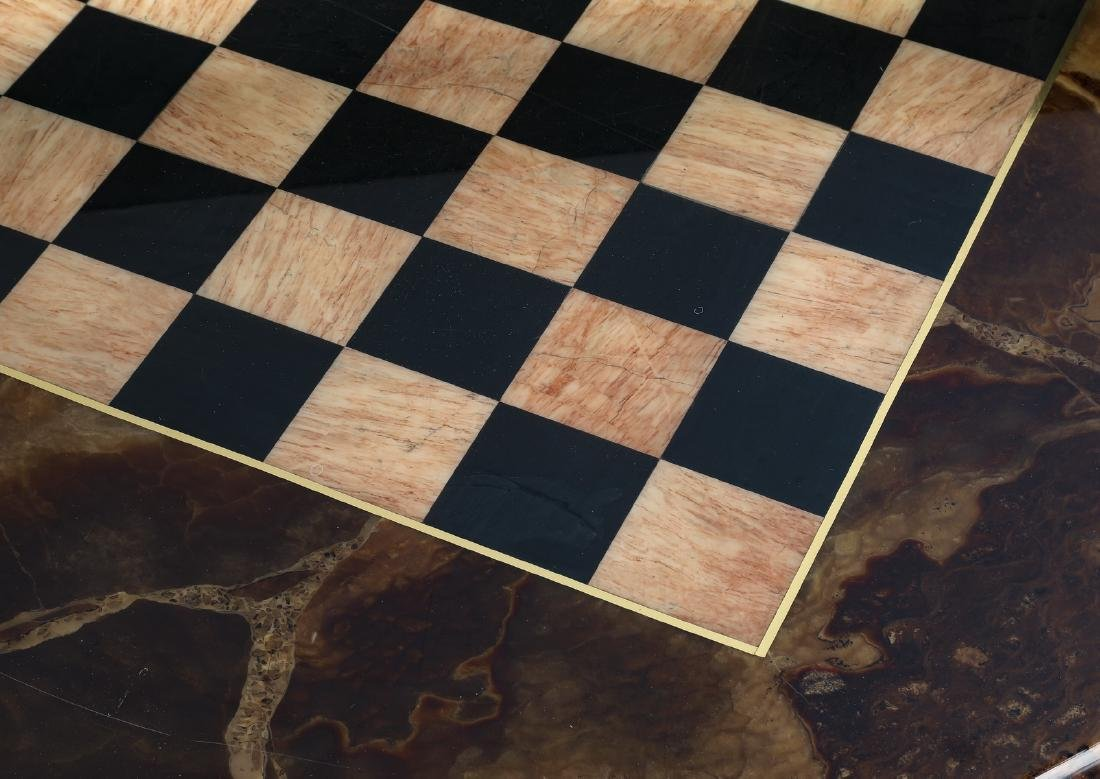 Marble chess or checkers game table - 3