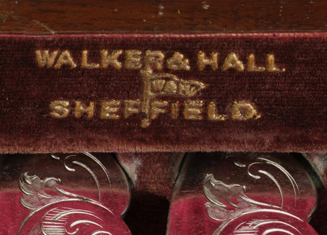 Sheffield plate fish service for 6 by Walker & Hall - 4