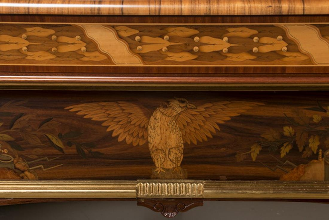 Handcrafted Italian marquetry inlaid pool table - 7
