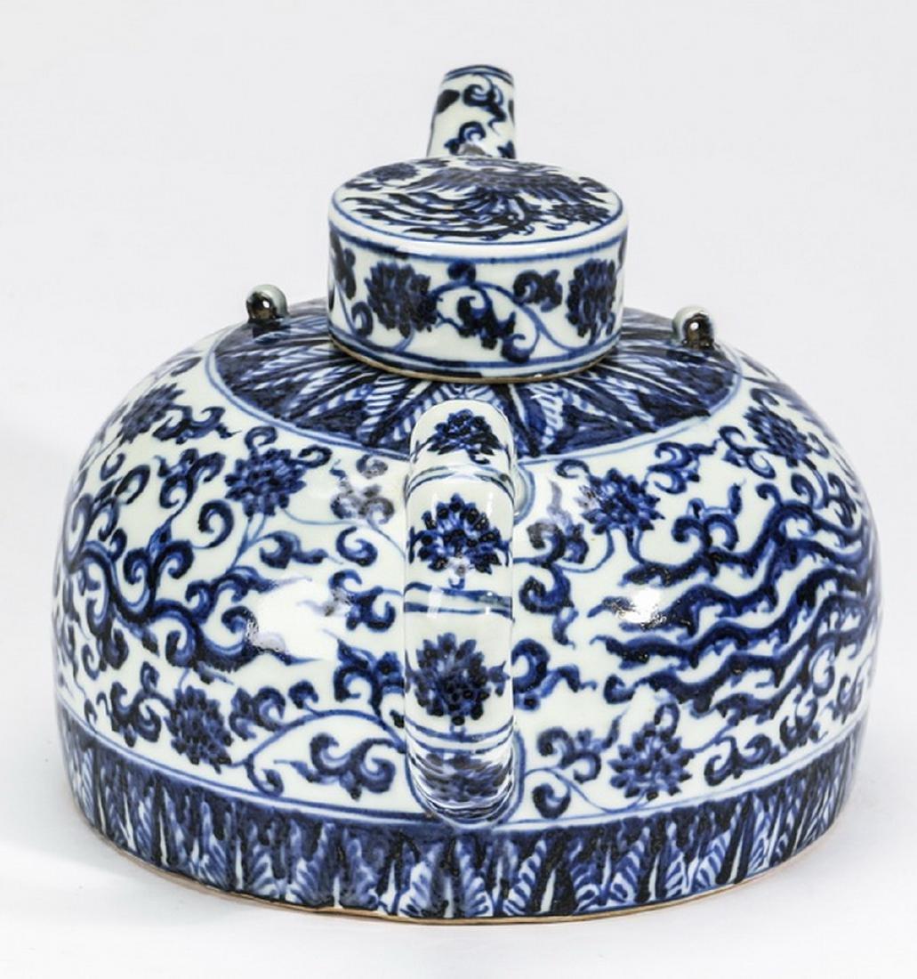 "Chinese half moon phoenix teapot, 12""l - 3"