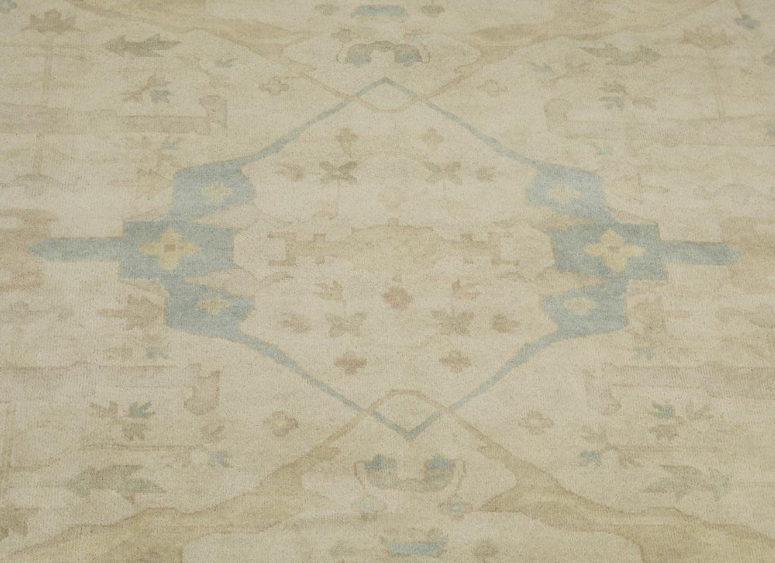 Hand knotted wool Indo-Oushak carpet, 14 x 10 - 2