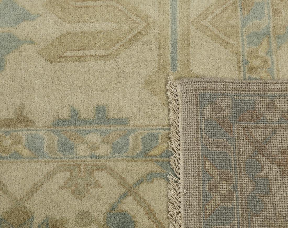 Hand knotted wool Indo-Oushak carpet, 14 x 10 - 4