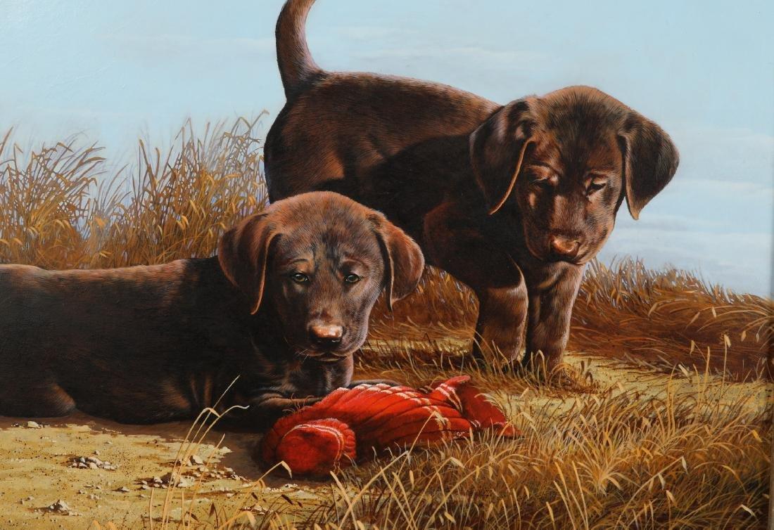Phillip Crowe signed acrylic/board 'The Desperadoes' - 2