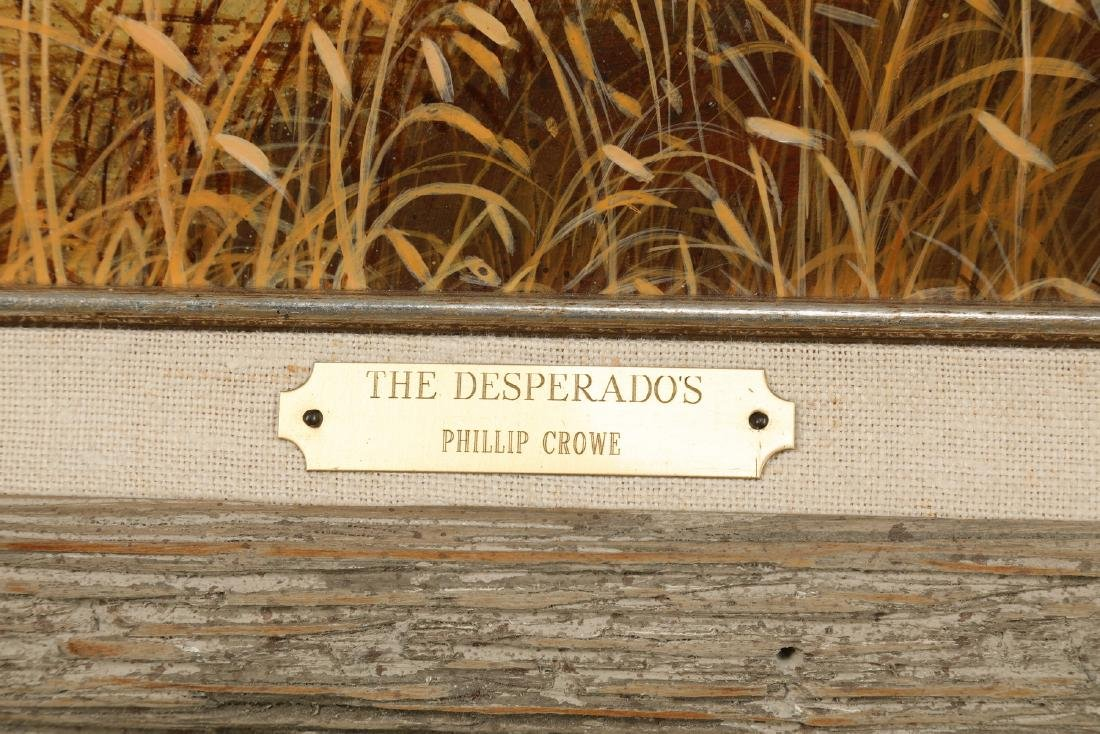 Phillip Crowe signed acrylic/board 'The Desperadoes' - 4