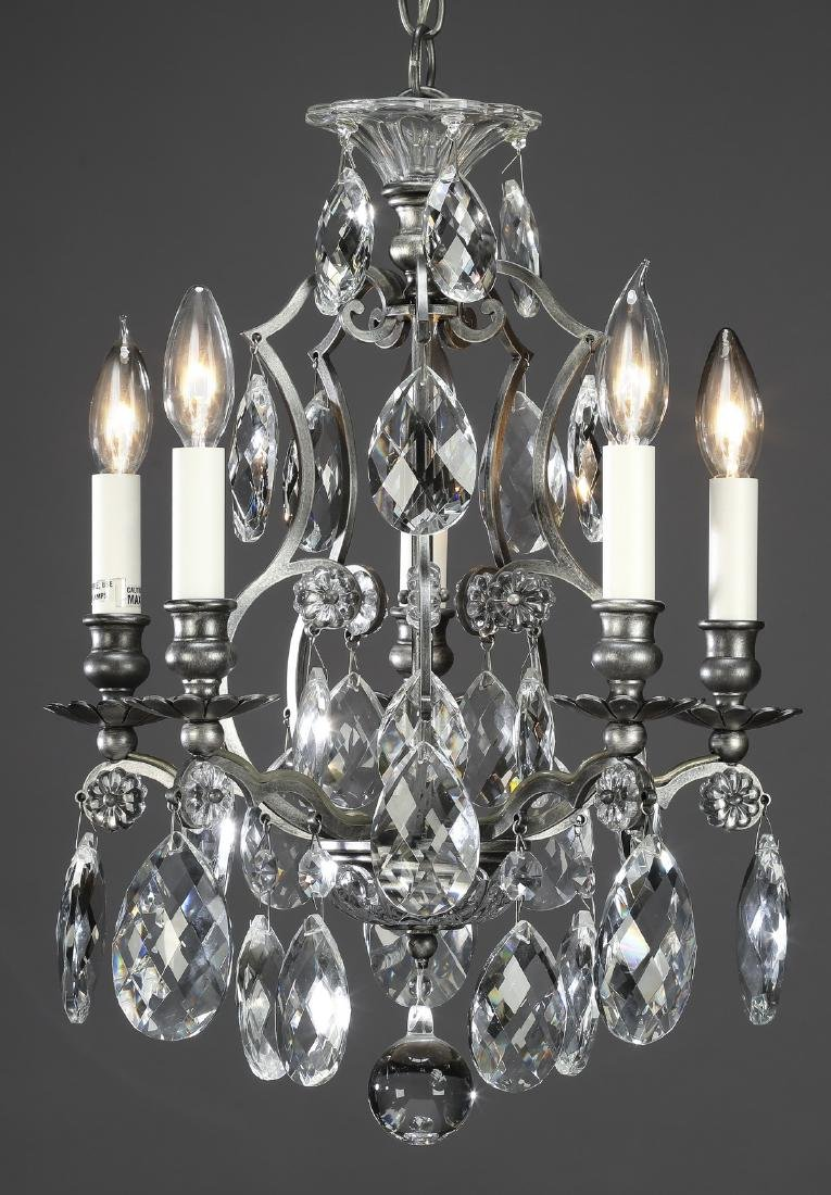 """Louis XV style crystal 5-light chandelier, 18""""h"""