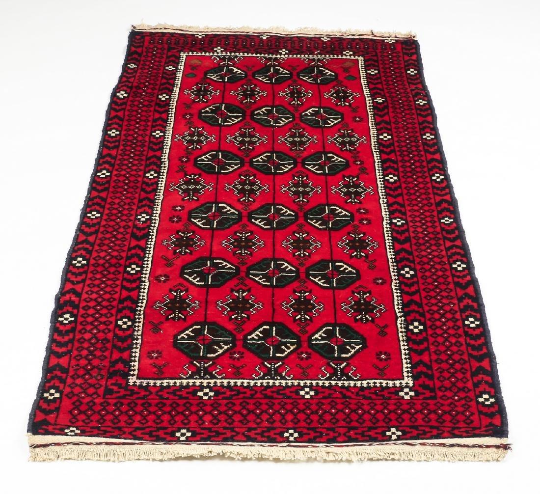 Hand knotted Pakistani Boukhara wool rug