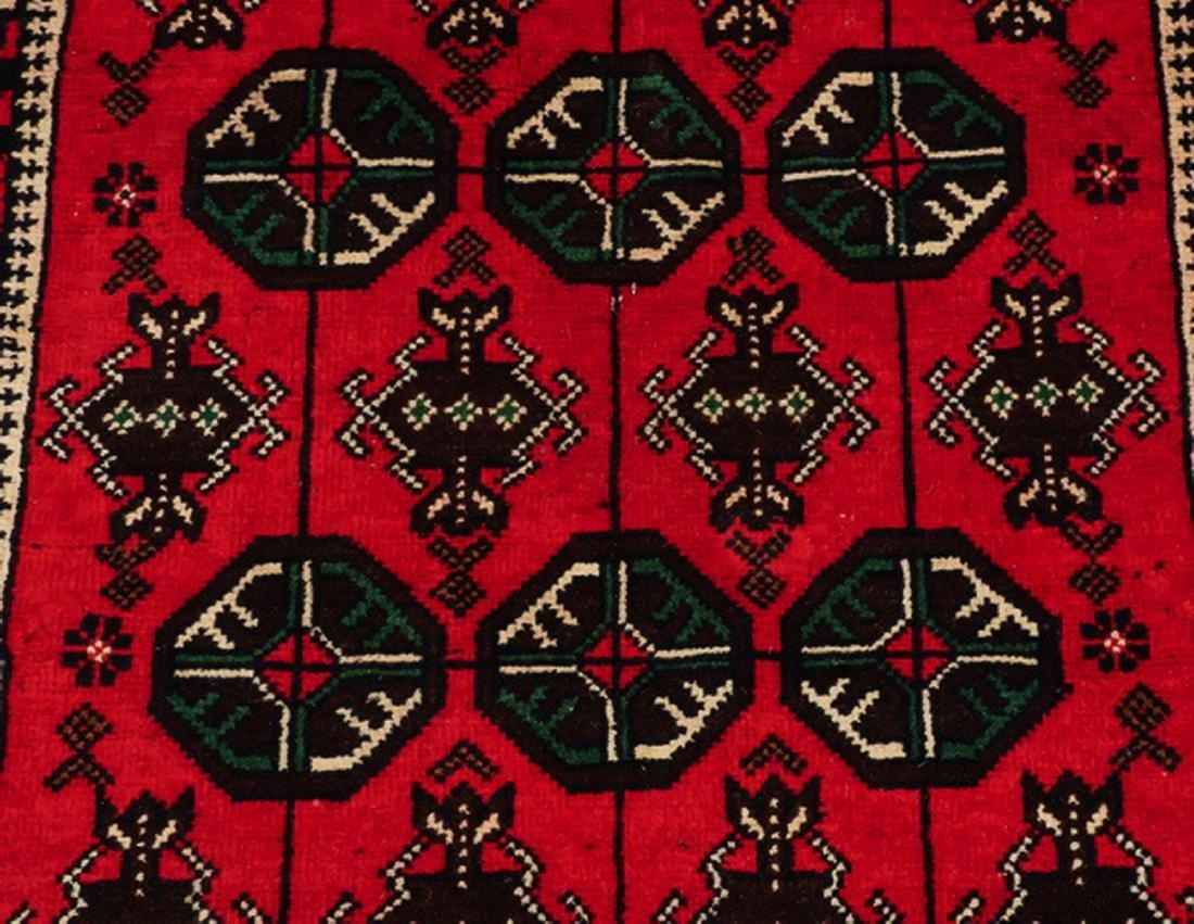 Hand knotted Pakistani Boukhara wool rug - 2