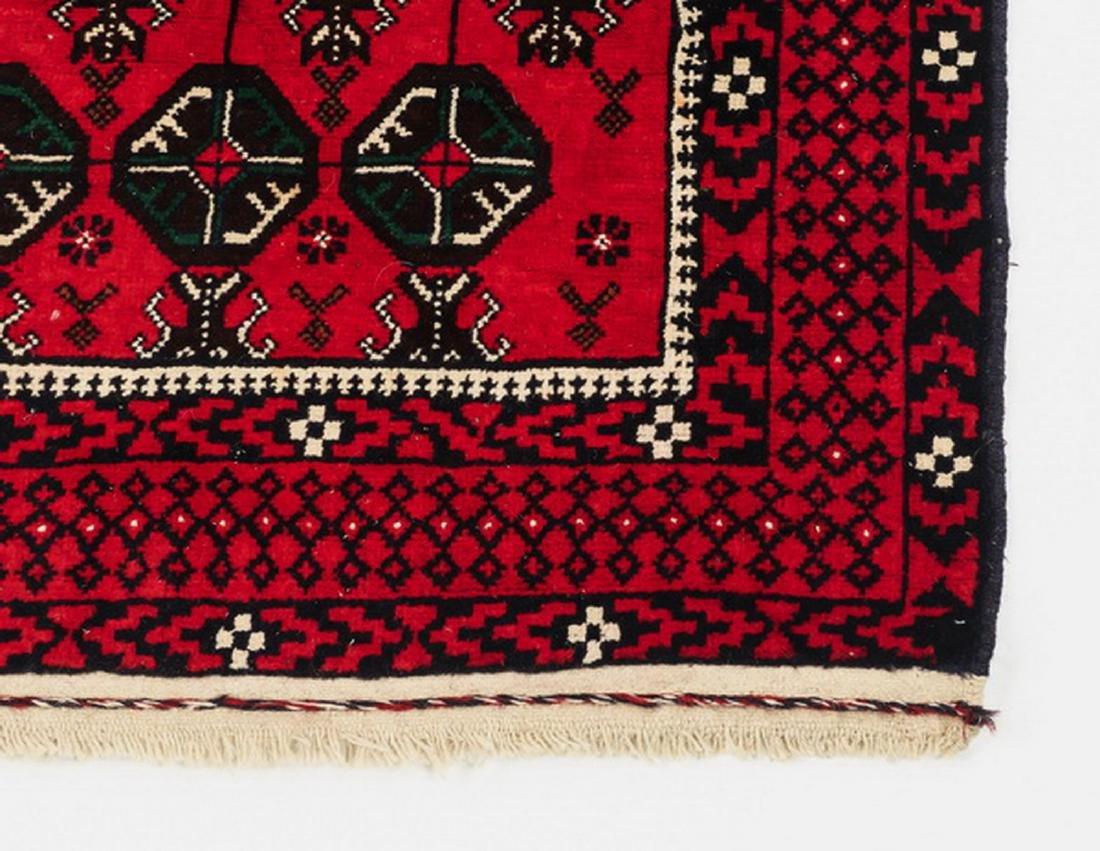 Hand knotted Pakistani Boukhara wool rug - 3
